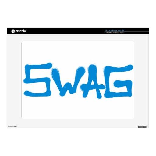 Etiqueta del Swag - azul Skins Para 38,1cm Portátil