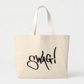 Etiqueta del Swag - negro Bolsa Tela Grande