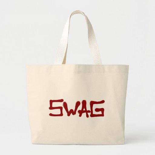 Etiqueta del Swag - rojo Bolsa Tela Grande