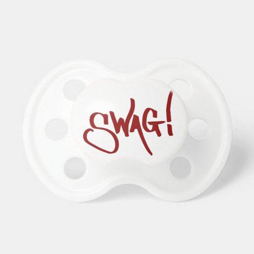 Etiqueta del Swag - rojo Chupetes De Bebé