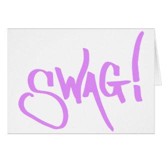 Etiqueta del Swag - rosa Tarjeta De Felicitación