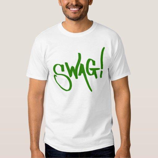 Etiqueta del Swag - verde Remera