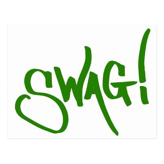 Etiqueta del Swag - verde Tarjeta Postal