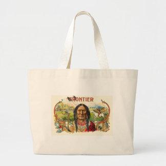 Etiqueta del tabaco indio bolsas lienzo