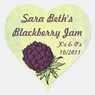 Etiqueta del tarro del atasco de Blackberry