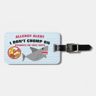 Etiqueta del tiburón de la alarma de la alergia de etiquetas bolsa