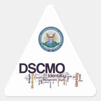 Etiqueta del triángulo de DSCMO