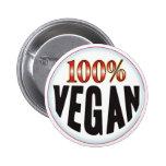 Etiqueta del vegano pin redondo 5 cm