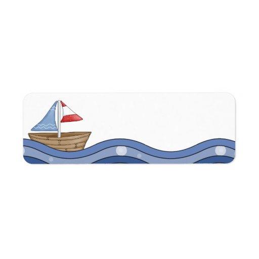 Etiqueta del velero etiqueta de remitente
