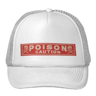 Etiqueta del veneno del vintage gorros bordados