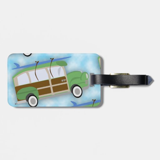 Etiqueta del viaje del carro de Woodie de la perso Etiqueta Para Maleta