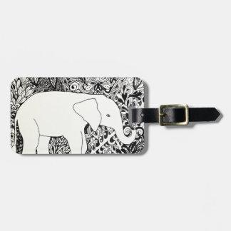 Etiqueta del viaje del elefante etiqueta para maleta