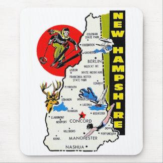 Etiqueta del viaje del estado de New Hampshire del Mouse Pad