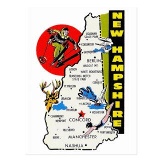 Etiqueta del viaje del estado de New Hampshire del Tarjetas Postales