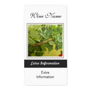 Etiqueta del vino blanco etiquetas de envío