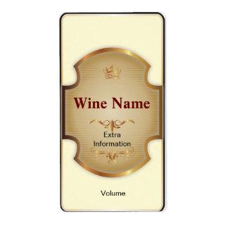 Etiqueta del vino blanco del estante superior etiquetas de envío