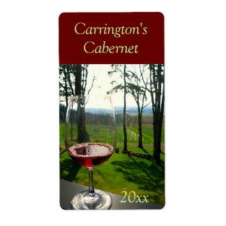 Etiqueta del vino de la copa de vino etiquetas de envío