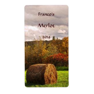 Etiqueta del vino de la cosecha del otoño etiqueta de envío