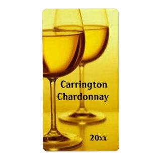Etiqueta del vino de las copas de vino