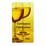 Etiqueta del vino de las copas de vino etiqueta de envío