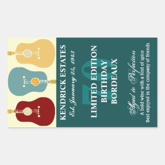 Etiqueta del vino de las guitarras - trullo