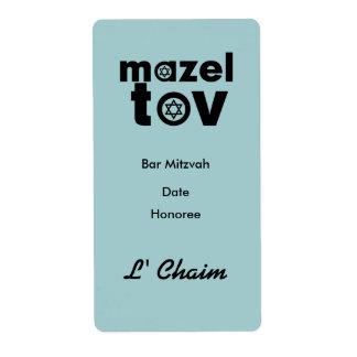 Etiqueta del vino de Mazel Tov Etiquetas De Envío