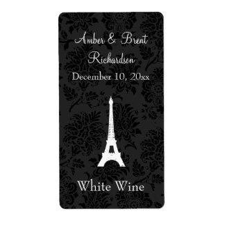 Etiqueta del vino de París del damasco Etiquetas De Envío