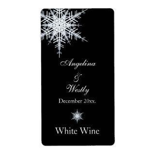 Etiqueta del vino del boda del invierno etiqueta de envío