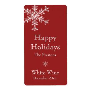 Etiqueta del vino del encanto del día de fiesta (r etiquetas de envío