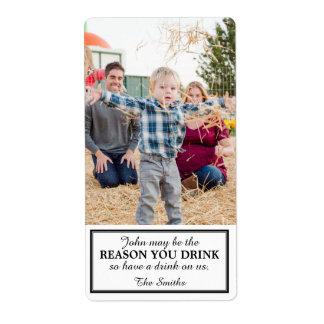 Etiqueta del vino del regalo debido al niño etiquetas de envío