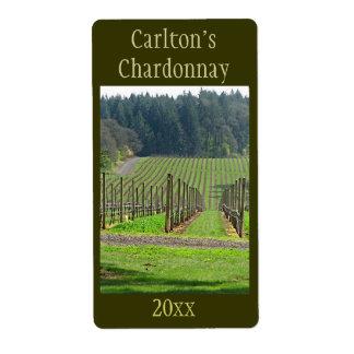 Etiqueta del vino del viñedo etiqueta de envío