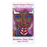 Etiqueta del vino - diosa de Bull que bebe el vino Etiqueta De Envío