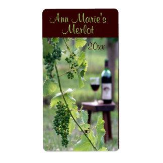 Etiqueta del vino etiquetas de envío