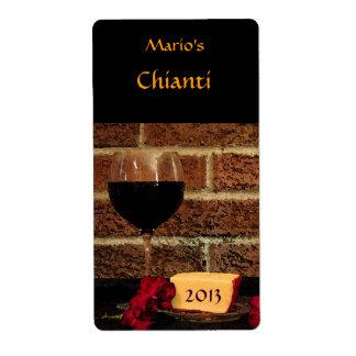 Etiqueta del vino rojo etiquetas de envío