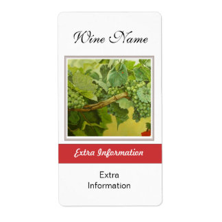 Etiqueta del vino rojo etiqueta de envío