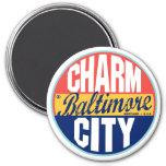 Etiqueta del vintage de Baltimore Iman Para Frigorífico