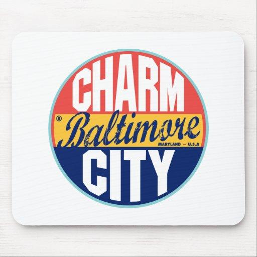 Etiqueta del vintage de Baltimore Mouse Pads