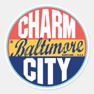 Etiqueta del vintage de Baltimore