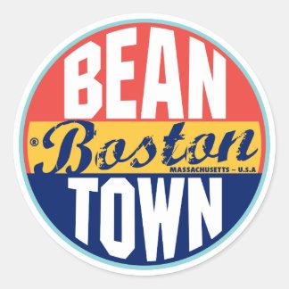 Etiqueta del vintage de Boston