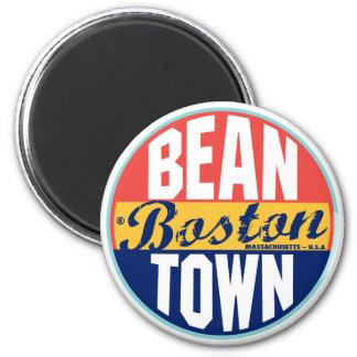 Etiqueta del vintage de Boston Imán Redondo 5 Cm