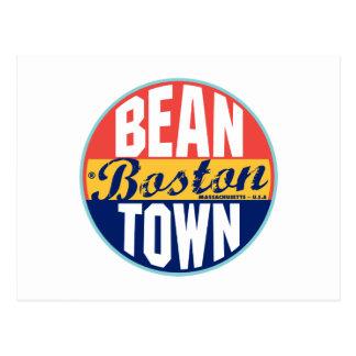 Etiqueta del vintage de Boston Tarjeta Postal