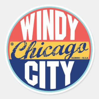 Etiqueta del vintage de Chicago