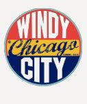 Etiqueta del vintage de Chicago Remeras