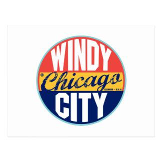 Etiqueta del vintage de Chicago Postal