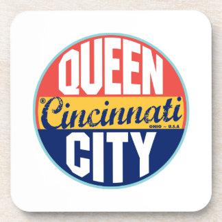 Etiqueta del vintage de Cincinnati Posavasos De Bebidas