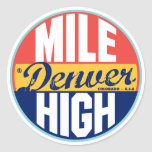 Etiqueta del vintage de Denver