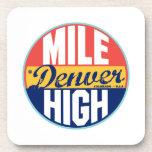 Etiqueta del vintage de Denver Posavasos