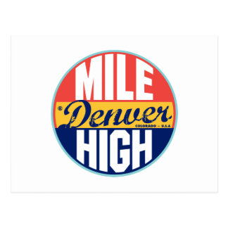 Etiqueta del vintage de Denver Postales