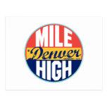 Etiqueta del vintage de Denver Tarjeta Postal