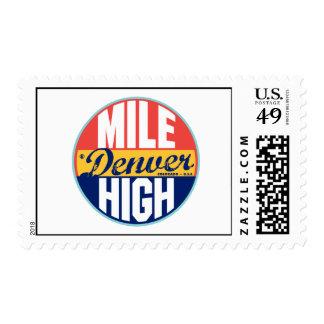 Etiqueta del vintage de Denver Timbre Postal